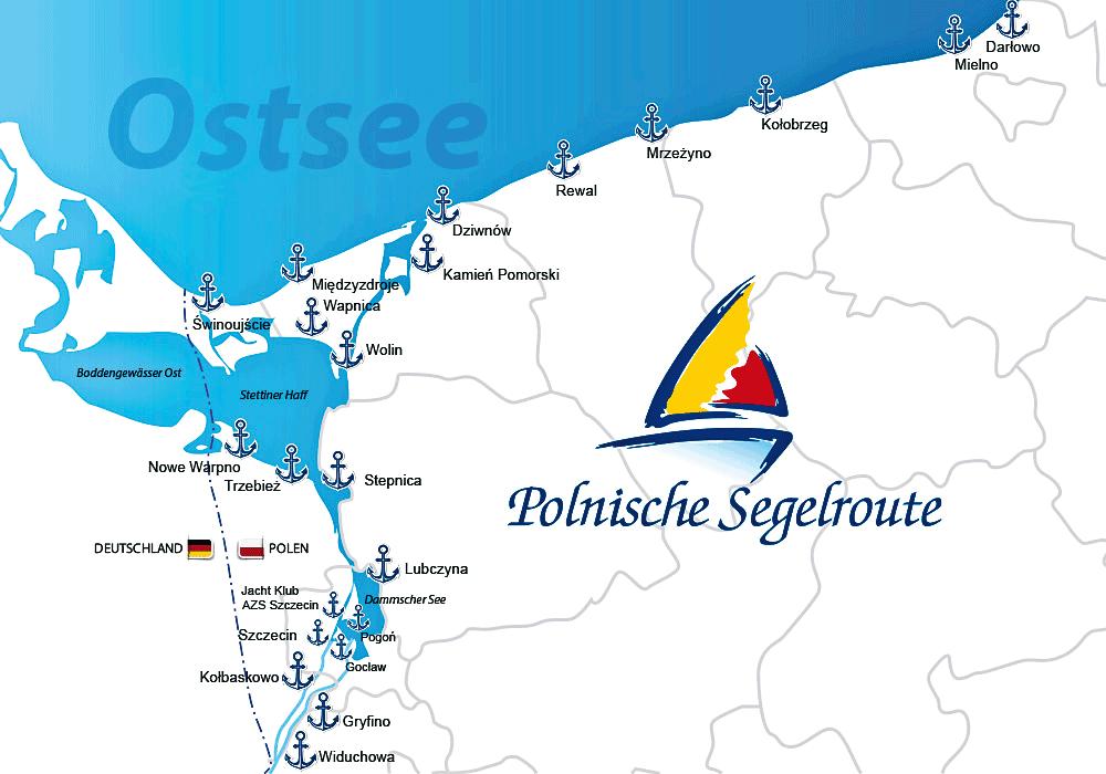 Polnische Segelroute
