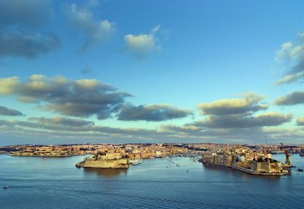 The Grand Harbour von La Valetta, Malta