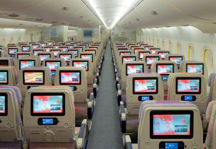 Emirates, A380, Economy Class