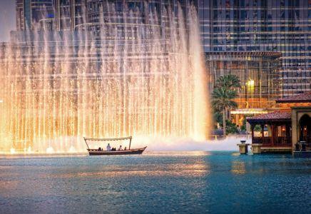 Dubai Fountain Credit: Emirates