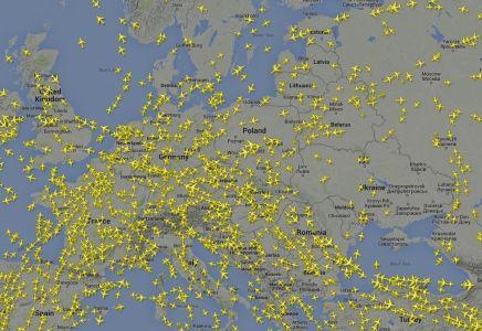 Flightradar Flugzeuge Europa Map