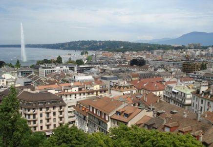 Genf Altstadt See
