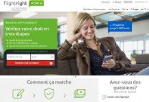 Portail web Flightright.fr