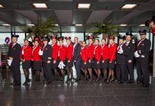 Die Edelweiss Crew ist bereit zum Abflug nach Orlando