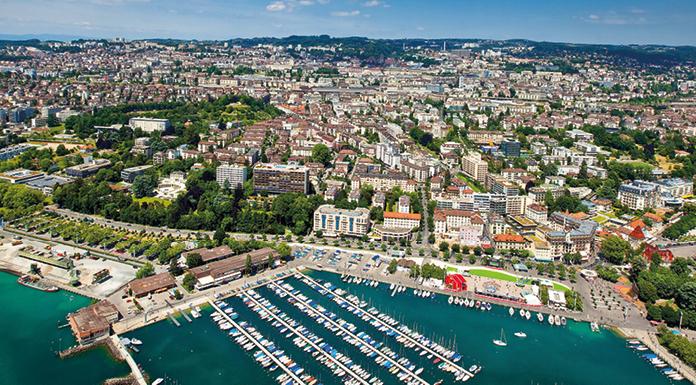 Luftansicht von Lausanne