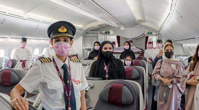 Qatar Airways crew feminin