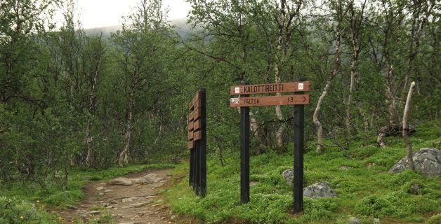 Finnland, Lappland, Wandern, Hiking, Wegweiser, Schild